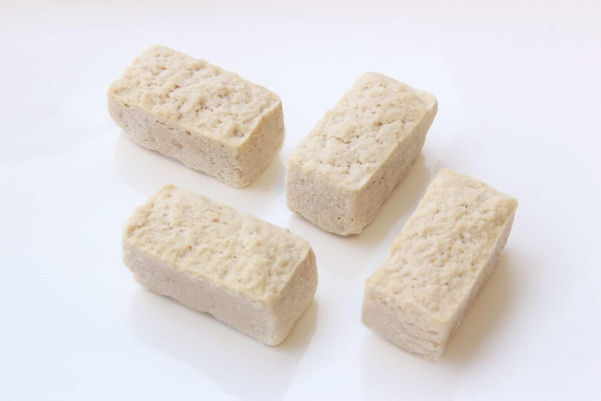 Carrégebraad in fingerfood-formaat. Rijk aan eiwitten.
